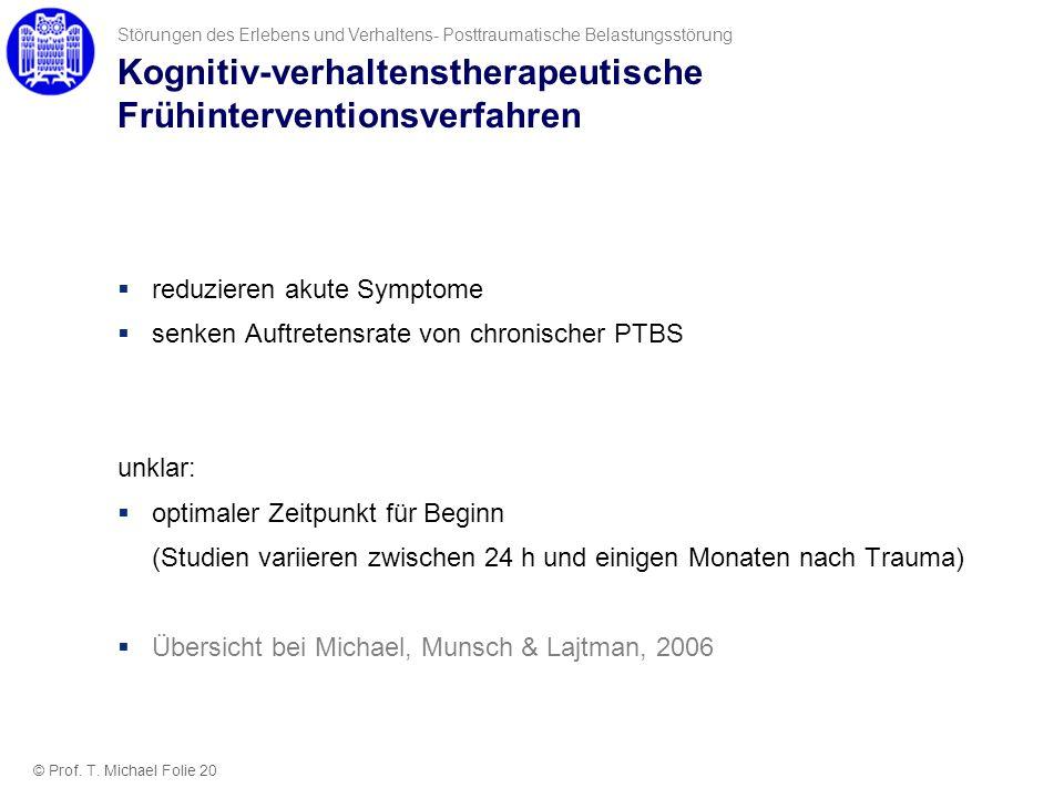 Kognitiv-verhaltenstherapeutische Frühinterventionsverfahren