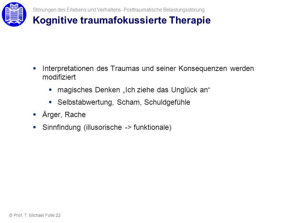 Kognitive traumafokussierte Therapie