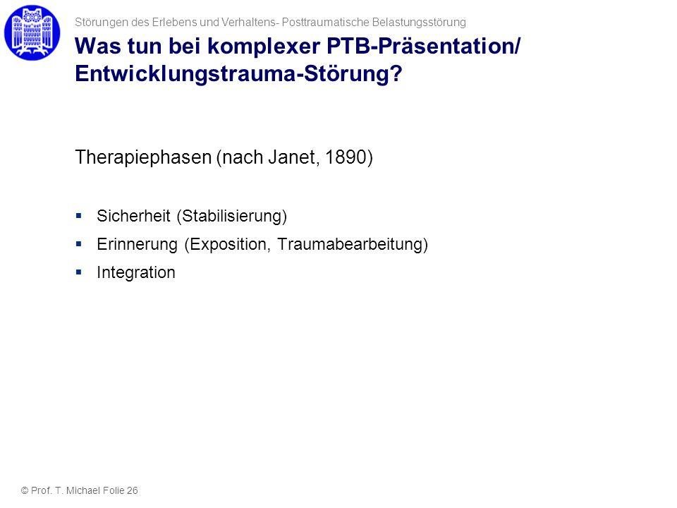 Was tun bei komplexer PTB-Präsentation/ Entwicklungstrauma-Störung
