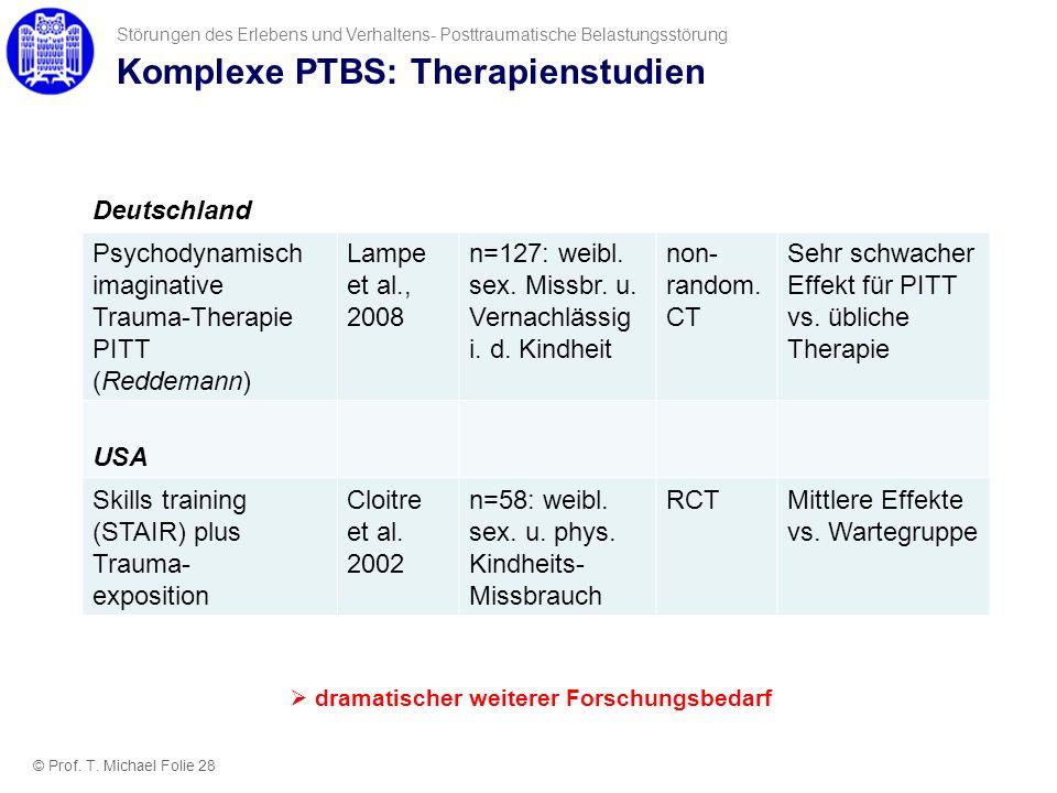 Komplexe PTBS: Therapienstudien