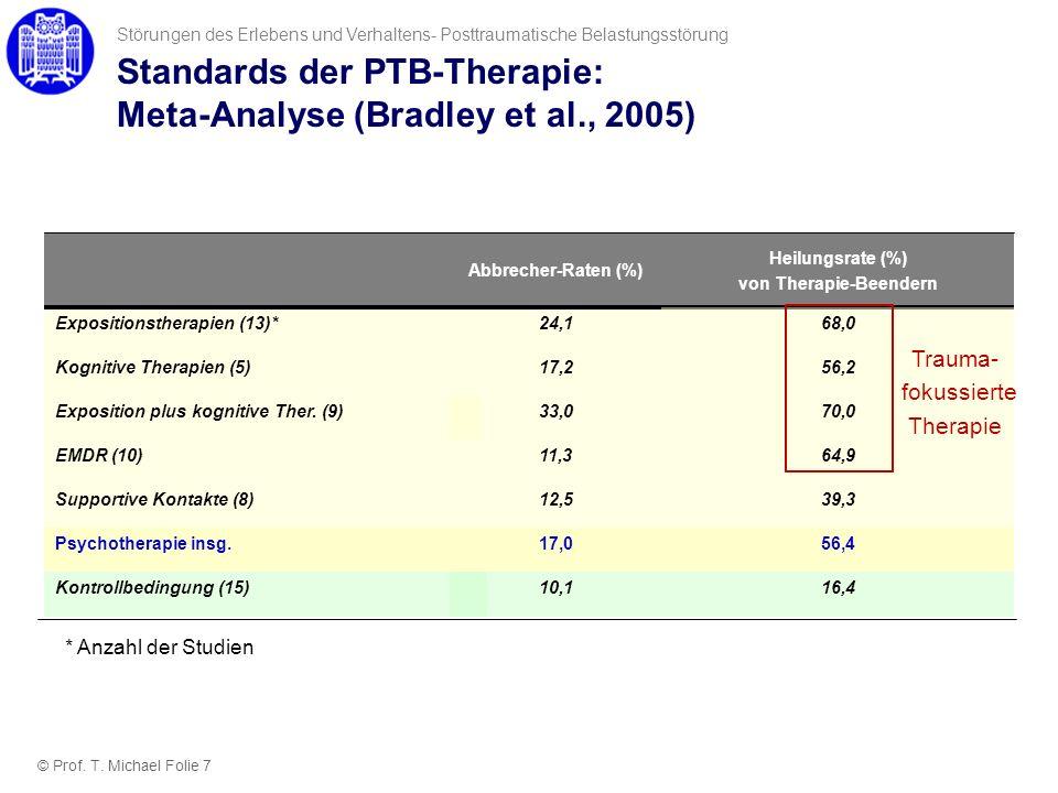 Standards der PTB-Therapie: Meta-Analyse (Bradley et al., 2005)