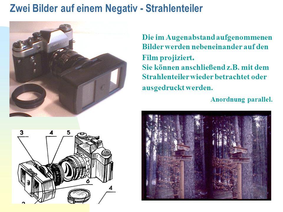 Zwei Bilder auf einem Negativ - Strahlenteiler