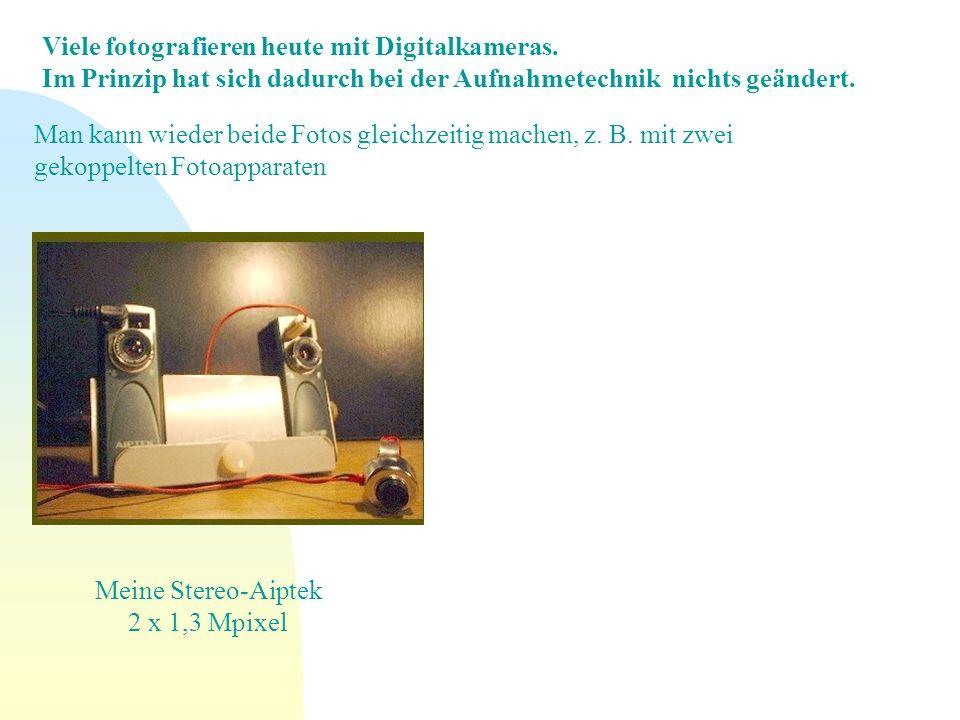 Meine Stereo-Aiptek 2 x 1,3 Mpixel