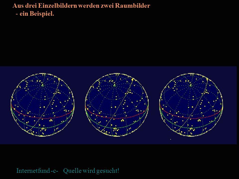Aus drei Einzelbildern werden zwei Raumbilder - ein Beispiel.