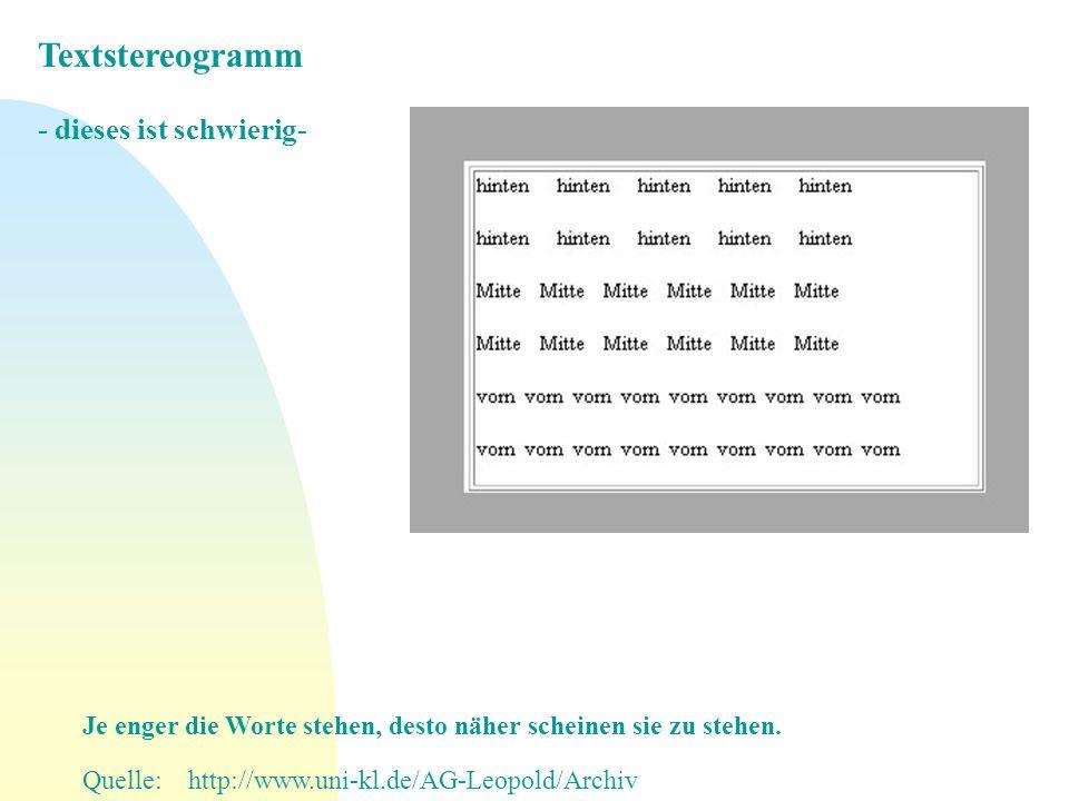 Textstereogramm - dieses ist schwierig-