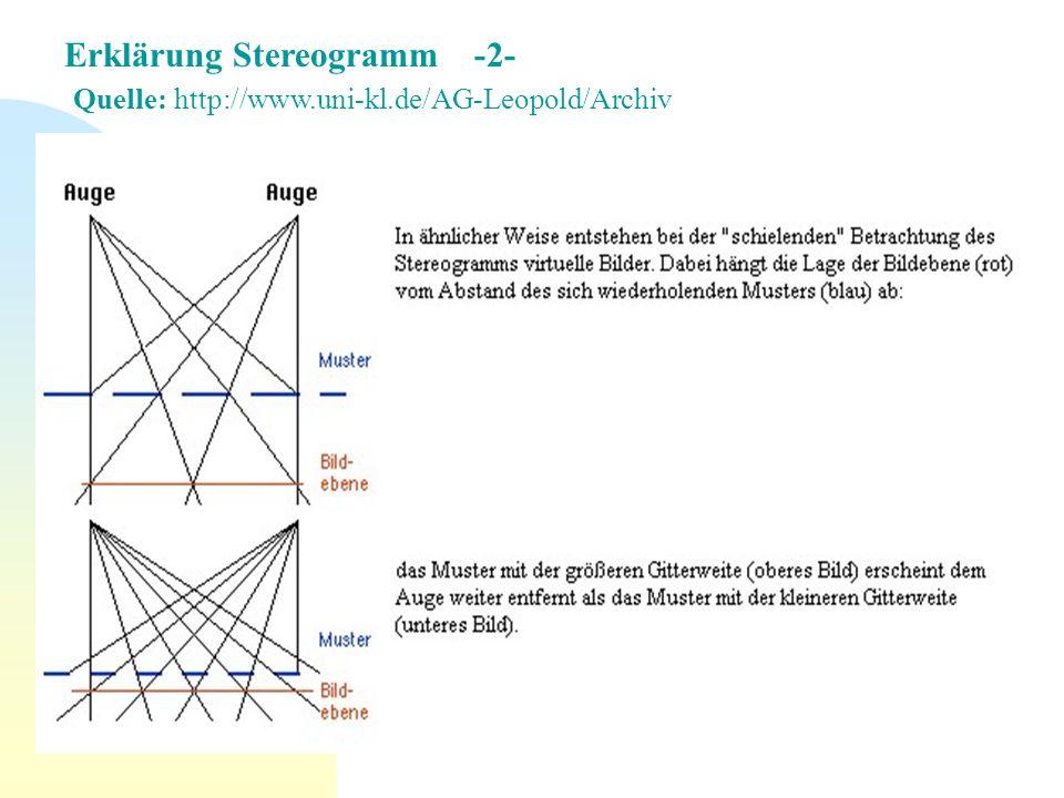 Erklärung Stereogramm -2- Quelle: http://www. uni-kl