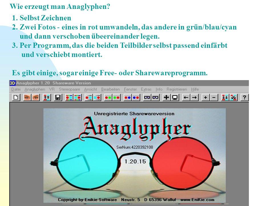 Wie erzeugt man Anaglyphen