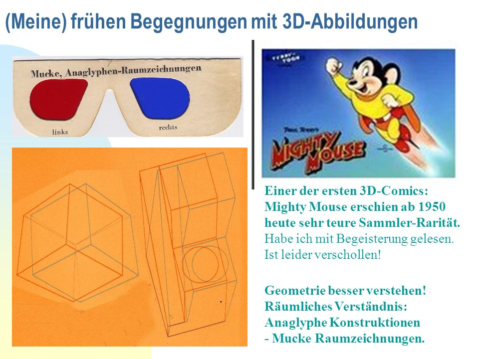 (Meine) frühen Begegnungen mit 3D-Abbildungen