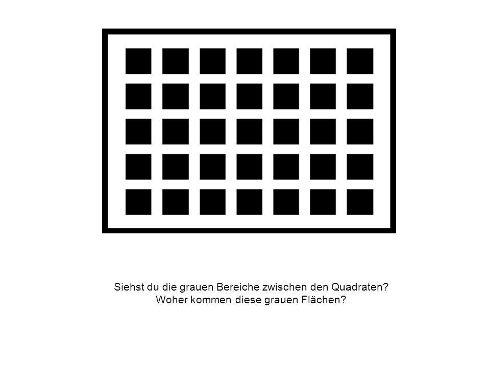 Siehst du die grauen Bereiche zwischen den Quadraten