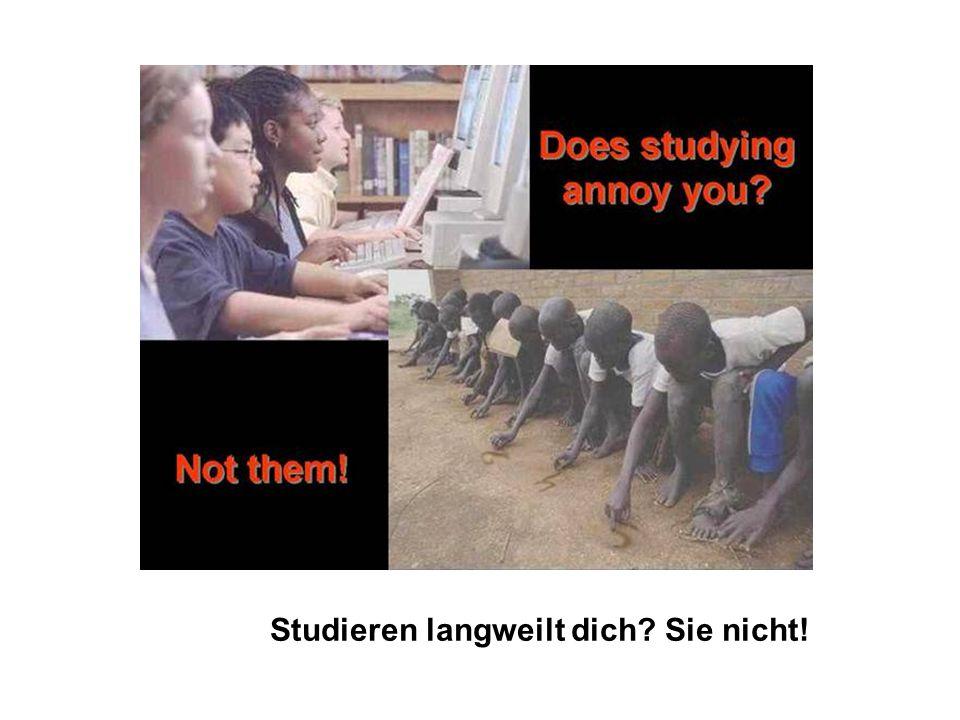 Studieren langweilt dich Sie nicht!