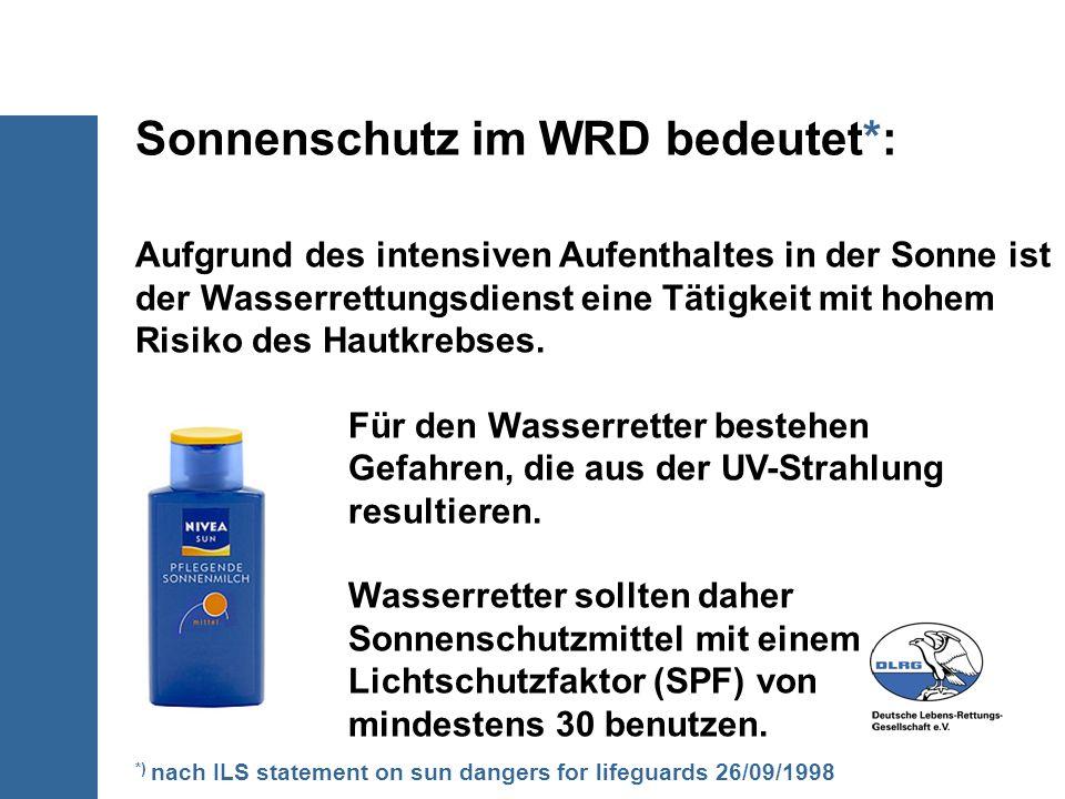 Sonnenschutz im WRD bedeutet*: