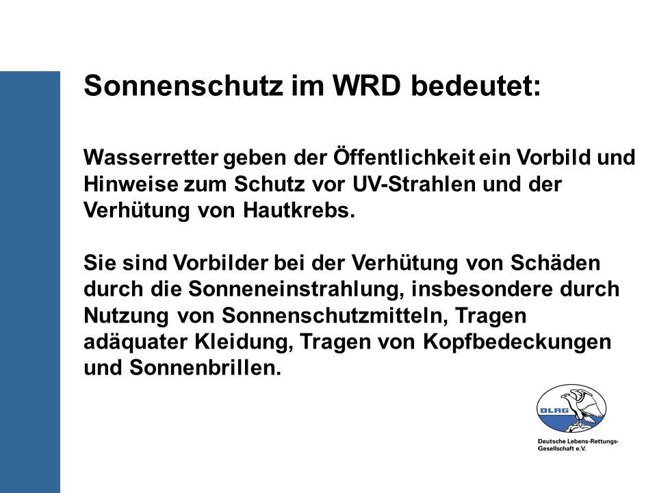 Sonnenschutz im WRD bedeutet: