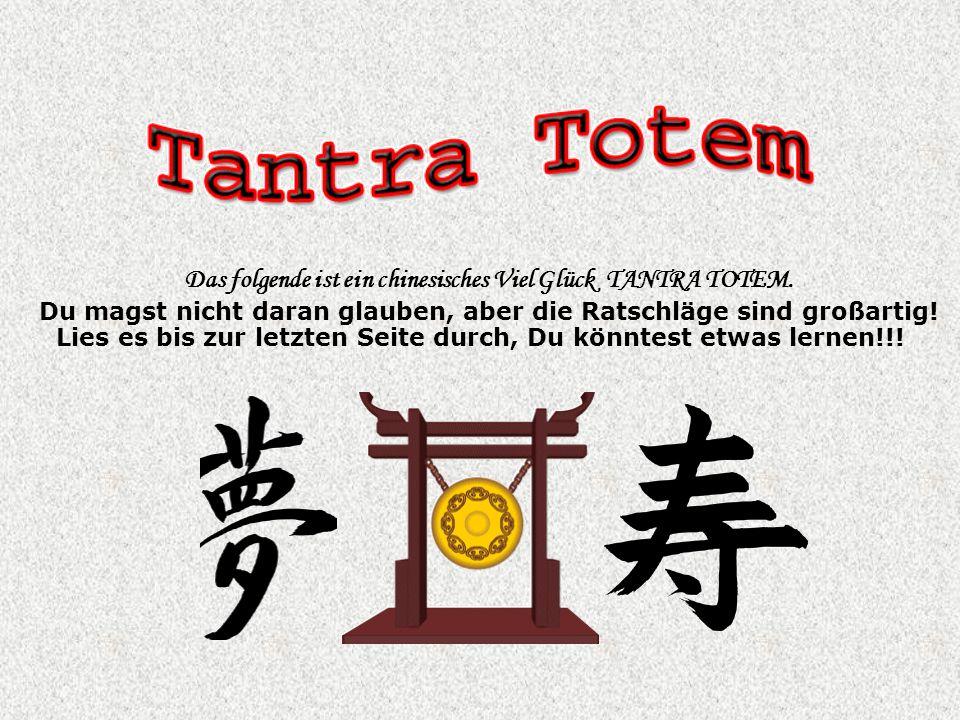 Das folgende ist ein chinesisches Viel Glück TANTRA TOTEM.