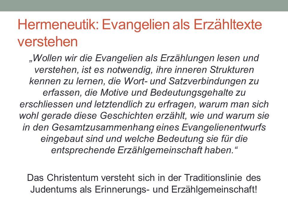 Hermeneutik: Evangelien als Erzähltexte verstehen