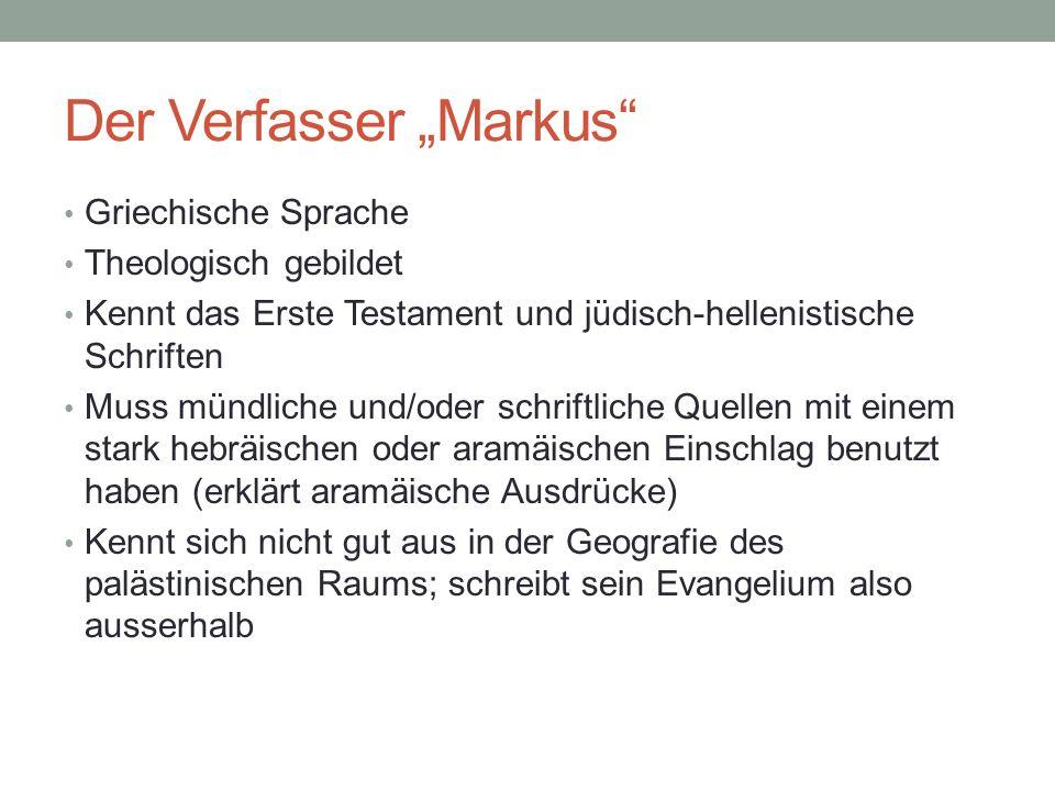 """Der Verfasser """"Markus"""