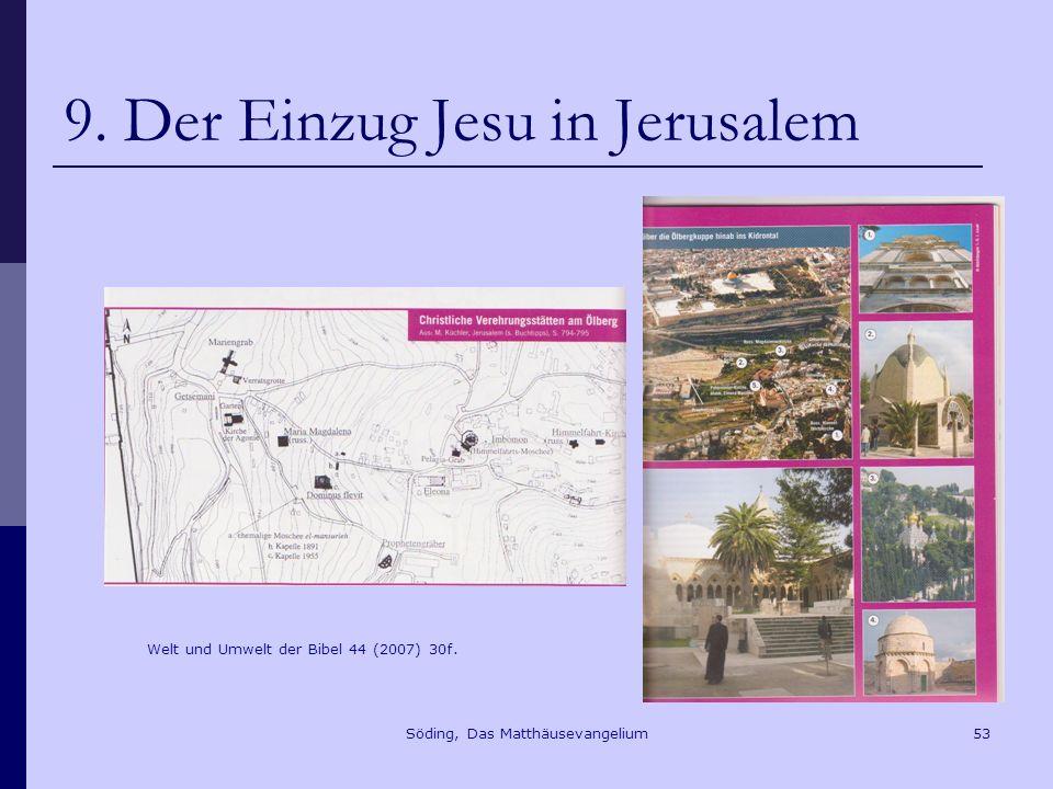 9. Der Einzug Jesu in Jerusalem