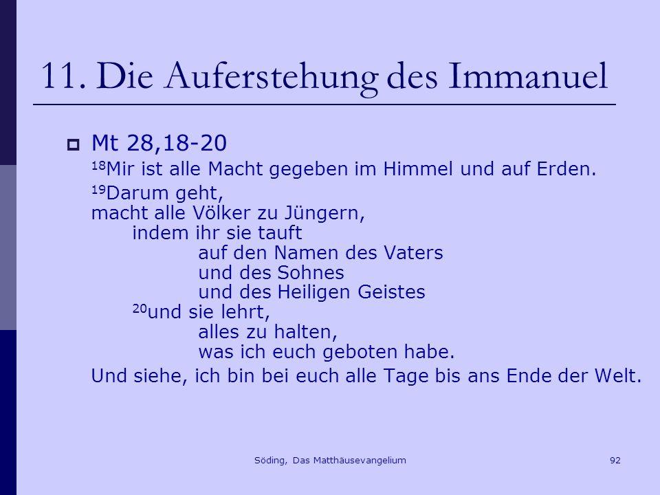 11. Die Auferstehung des Immanuel