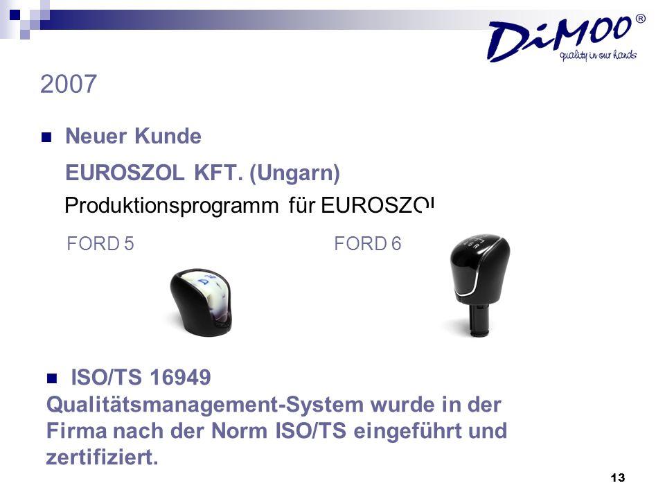 2007 EUROSZOL KFT. (Ungarn) Neuer Kunde