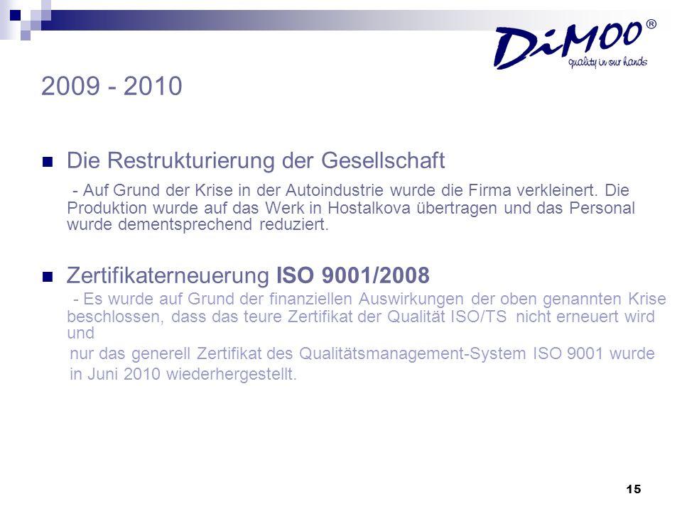 2009 - 2010 Die Restrukturierung der Gesellschaft