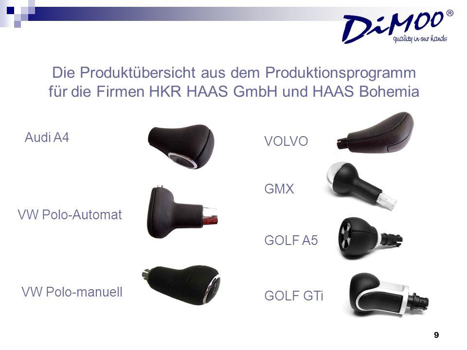 Die Produktübersicht aus dem Produktionsprogramm für die Firmen HKR HAAS GmbH und HAAS Bohemia
