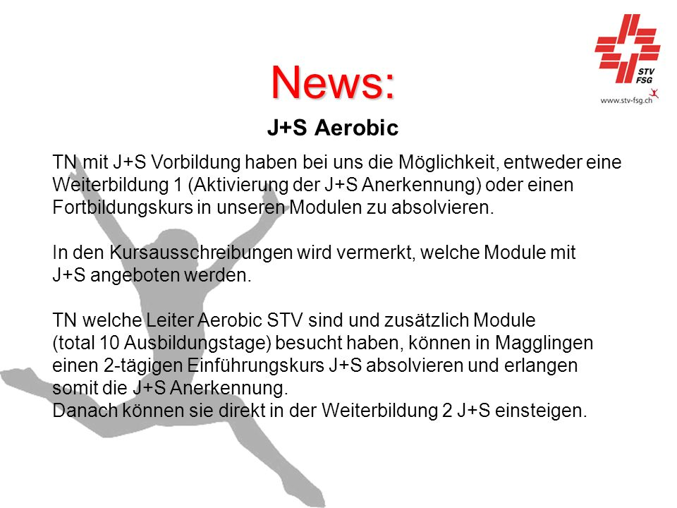 News: J+S Aerobic.
