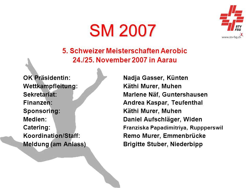 5. Schweizer Meisterschaften Aerobic