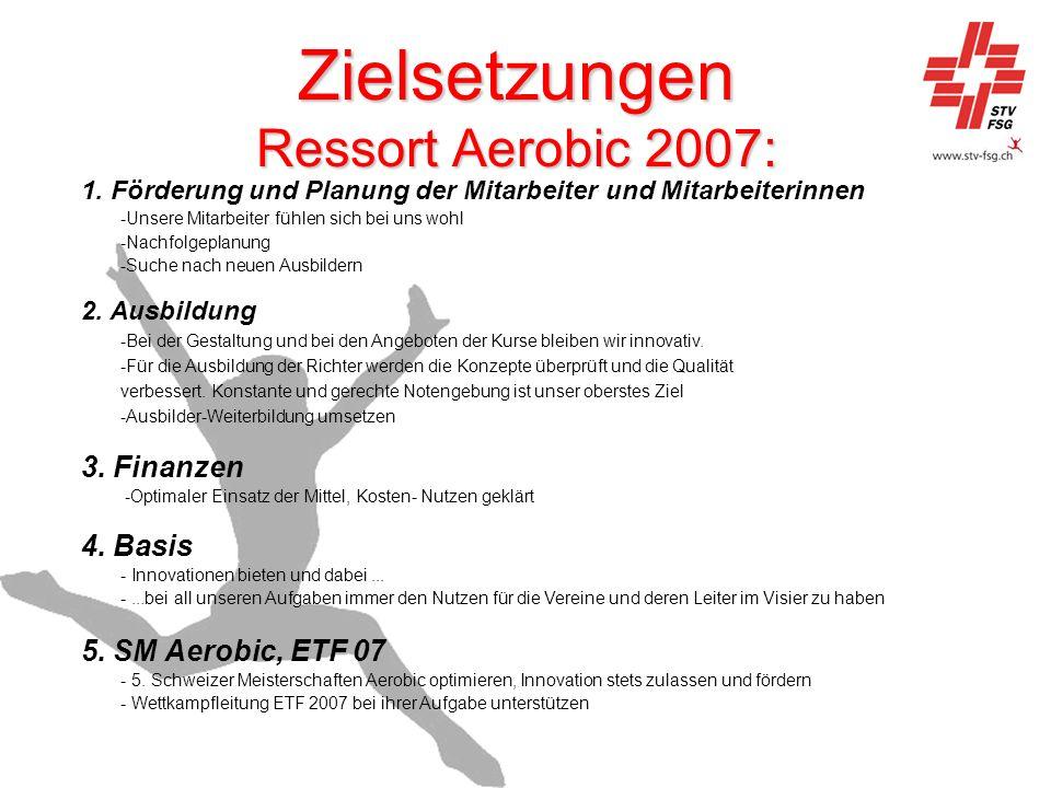 Zielsetzungen Ressort Aerobic 2007: