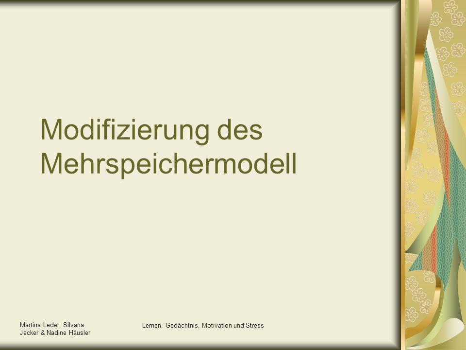 Modifizierung des Mehrspeichermodell