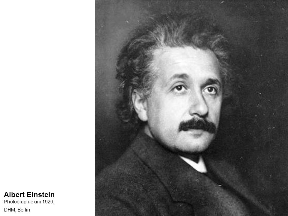 Albert Einstein Photographie um 1920,