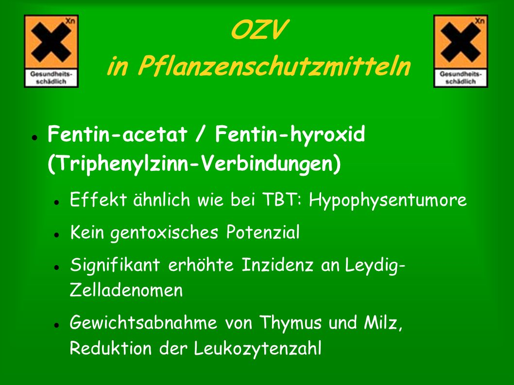 OZV in Pflanzenschutzmitteln