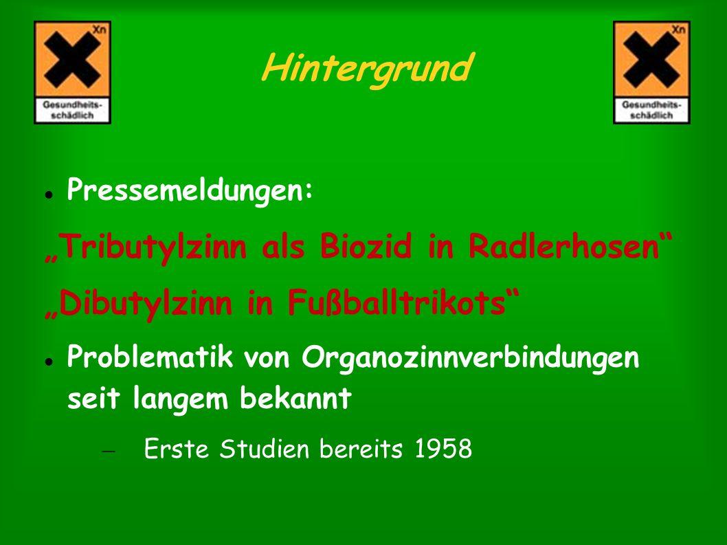 """Hintergrund """"Tributylzinn als Biozid in Radlerhosen"""