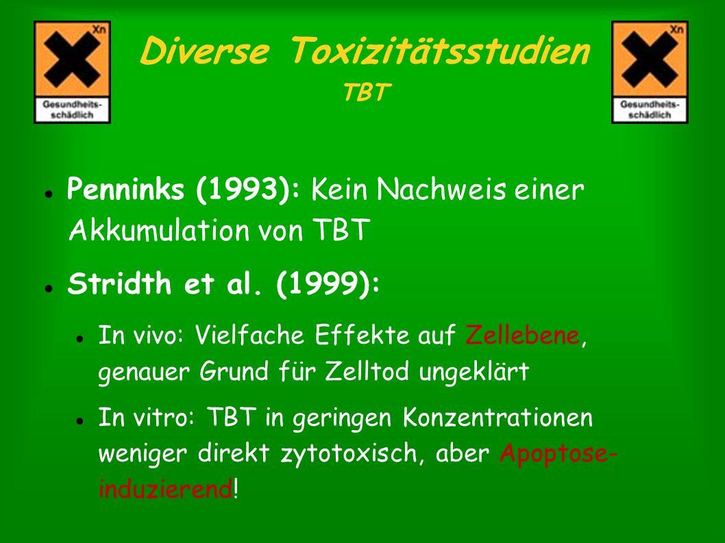 Diverse Toxizitätsstudien TBT