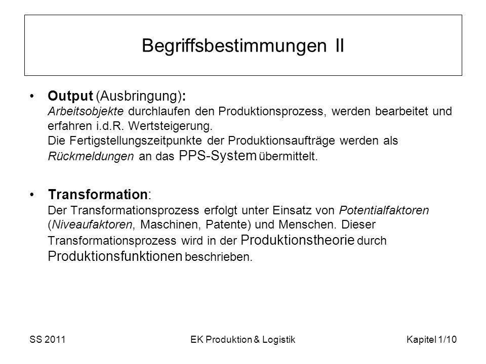 Begriffsbestimmungen II