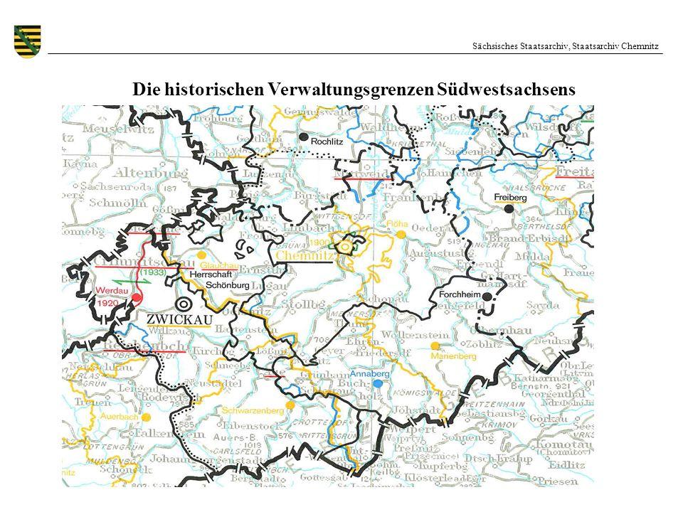 Die historischen Verwaltungsgrenzen Südwestsachsens