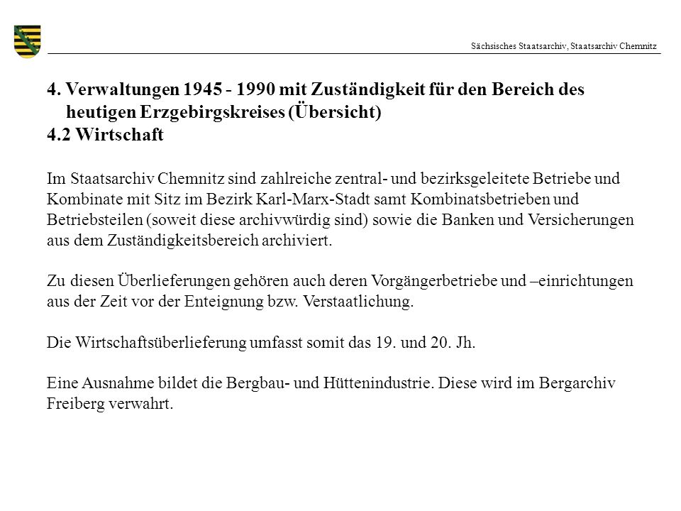 4. Verwaltungen 1945 - 1990 mit Zuständigkeit für den Bereich des