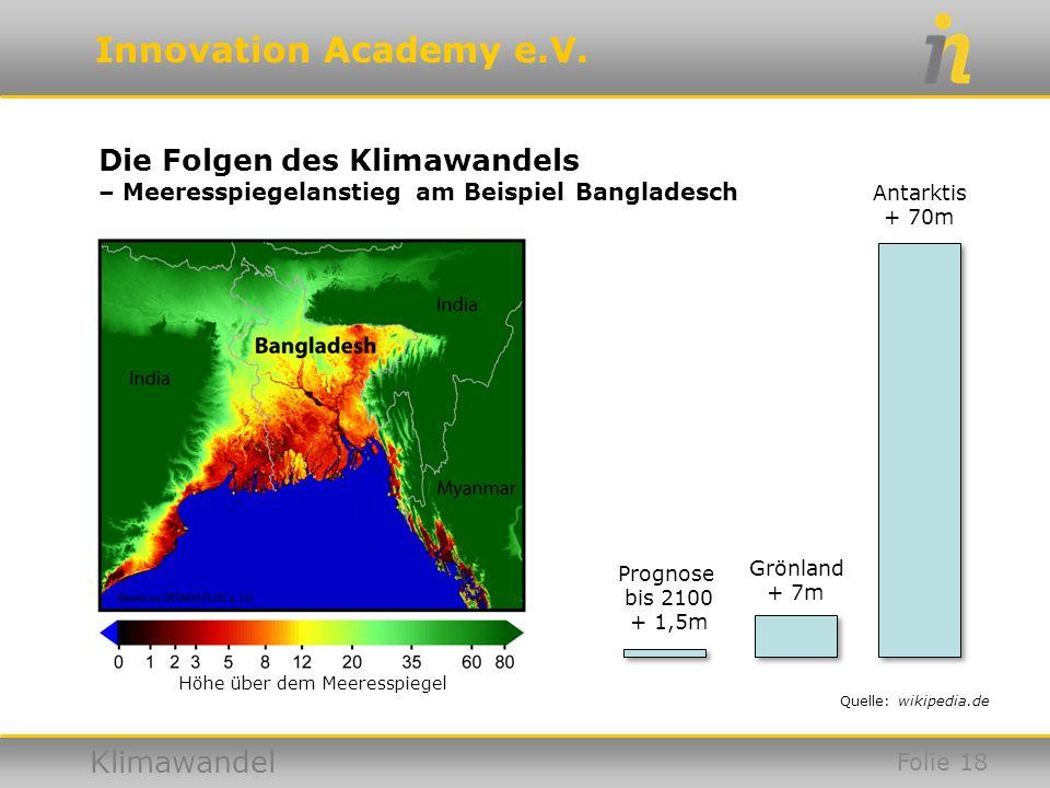 Höhe über dem Meeresspiegel