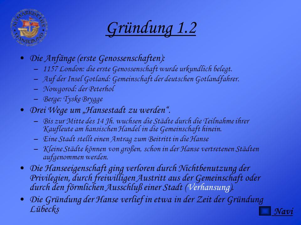 Gründung 1.2 Die Anfänge (erste Genossenschaften):