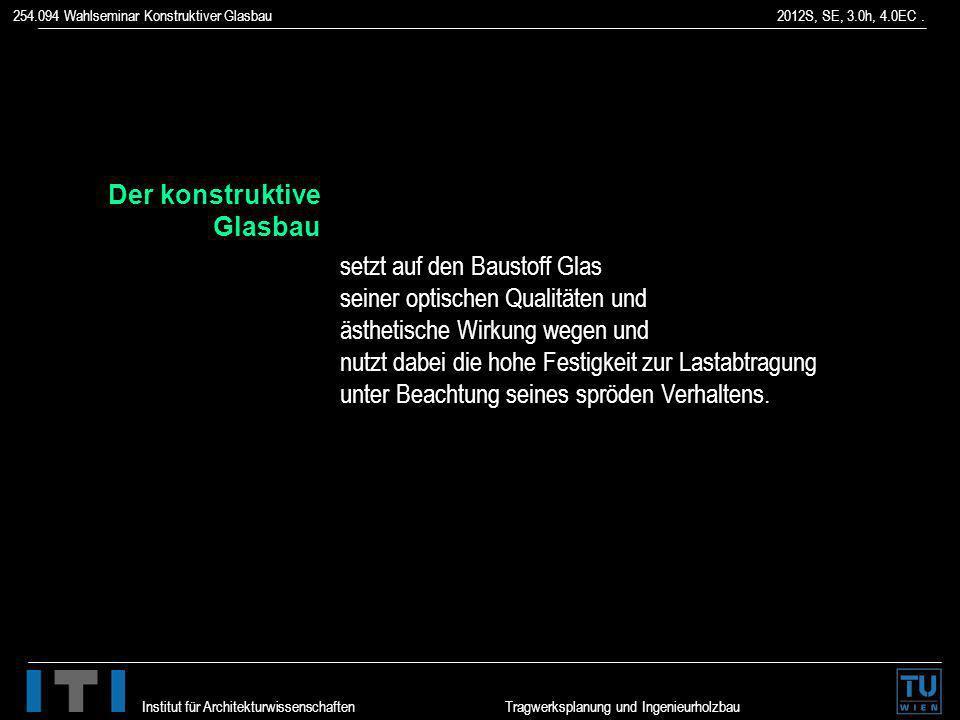 Der konstruktive Glasbau