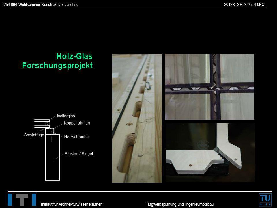 Holz-Glas Forschungsprojekt
