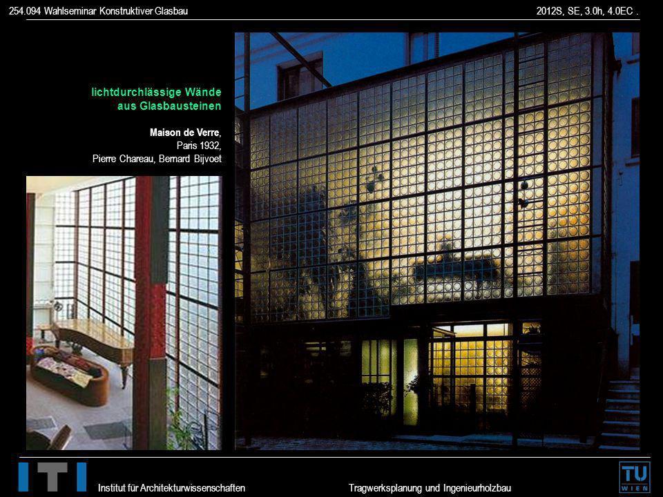 lichtdurchlässige Wände aus Glasbausteinen Maison de Verre, Paris 1932, Pierre Chareau, Bernard Bijvoet