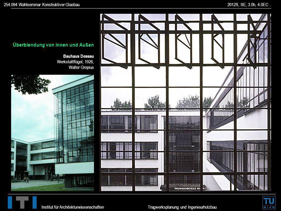 Überblendung von Innen und Außen Bauhaus Dessau Werkstattflügel, 1926, Walter Gropius