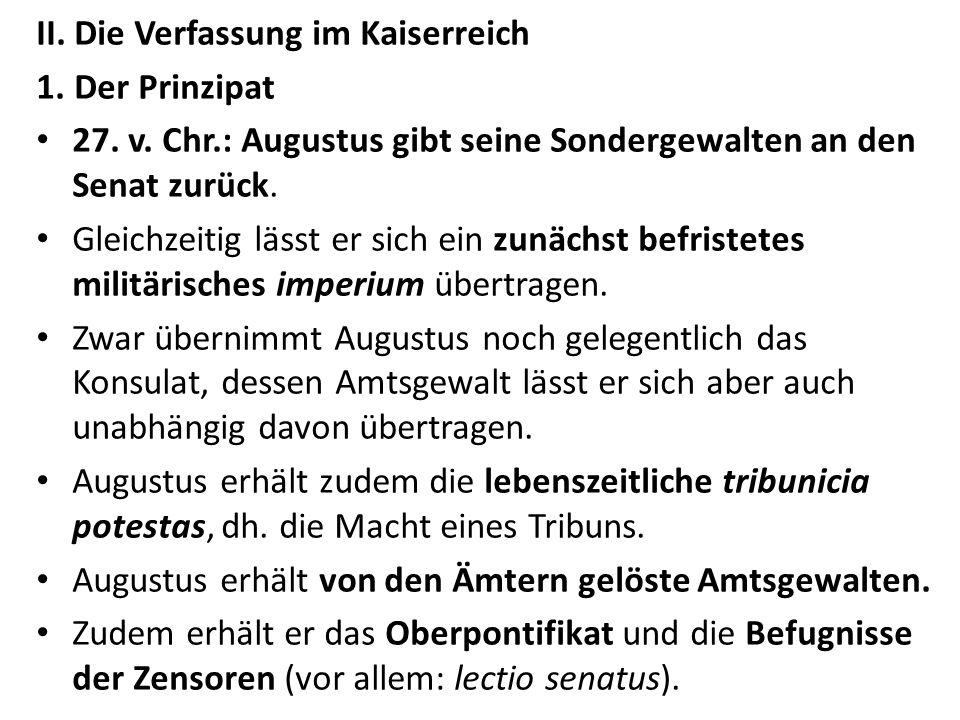 II. Die Verfassung im Kaiserreich
