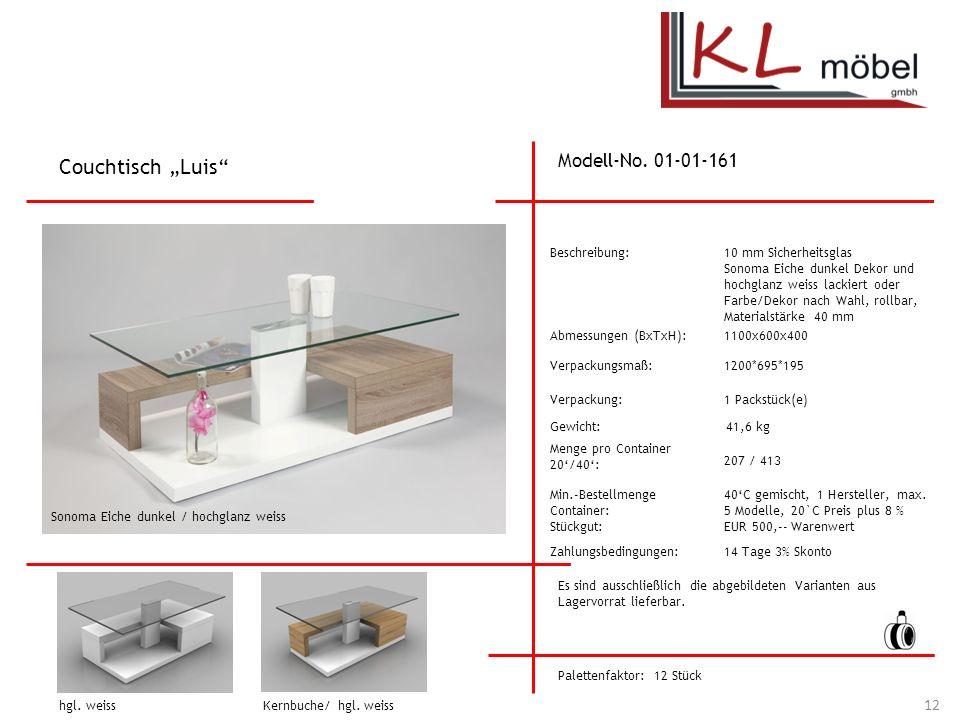 """Couchtisch """"Luis Modell-No. 01-01-161 Beschreibung:"""