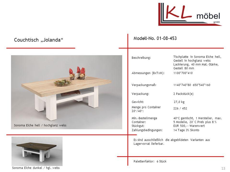 """Couchtisch """"Jolanda Modell-No. 01-08-453 Beschreibung:"""