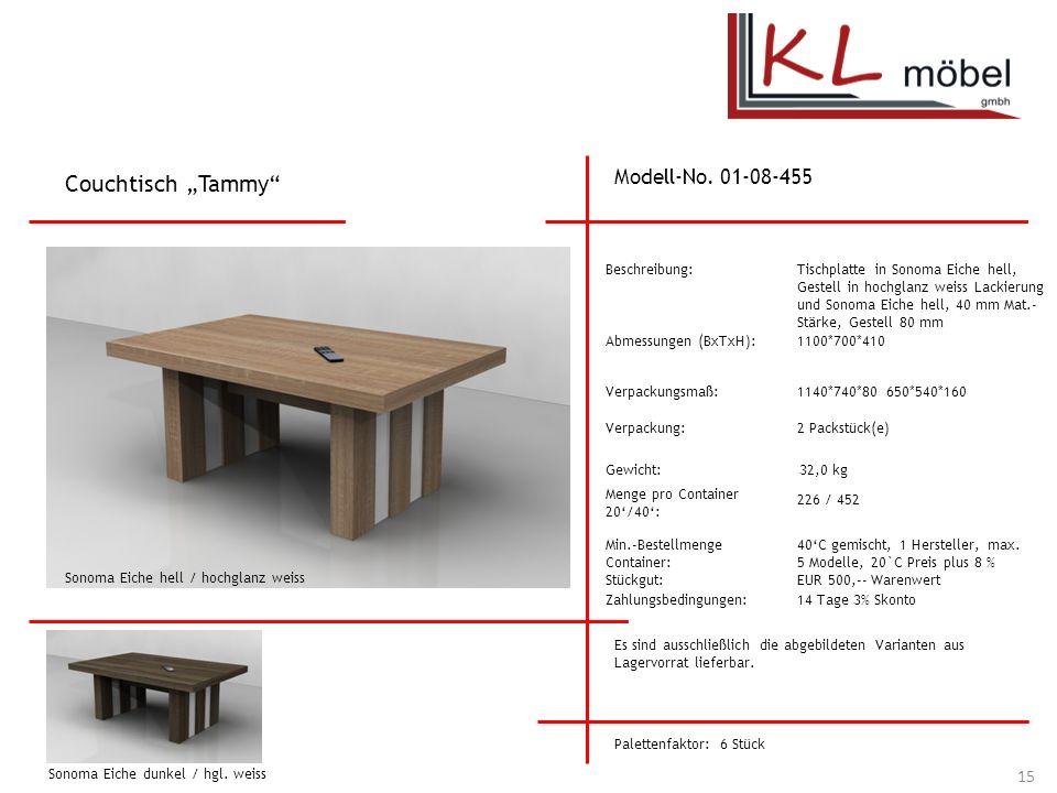 """Couchtisch """"Tammy Modell-No. 01-08-455 Beschreibung:"""