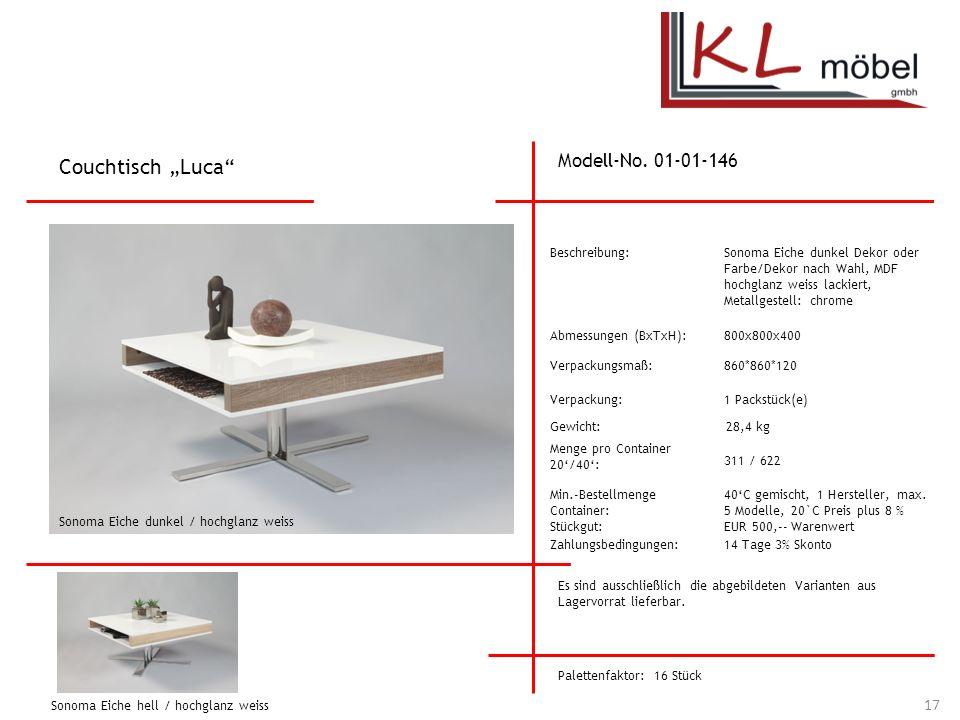 """Couchtisch """"Luca Modell-No. 01-01-146 Beschreibung:"""