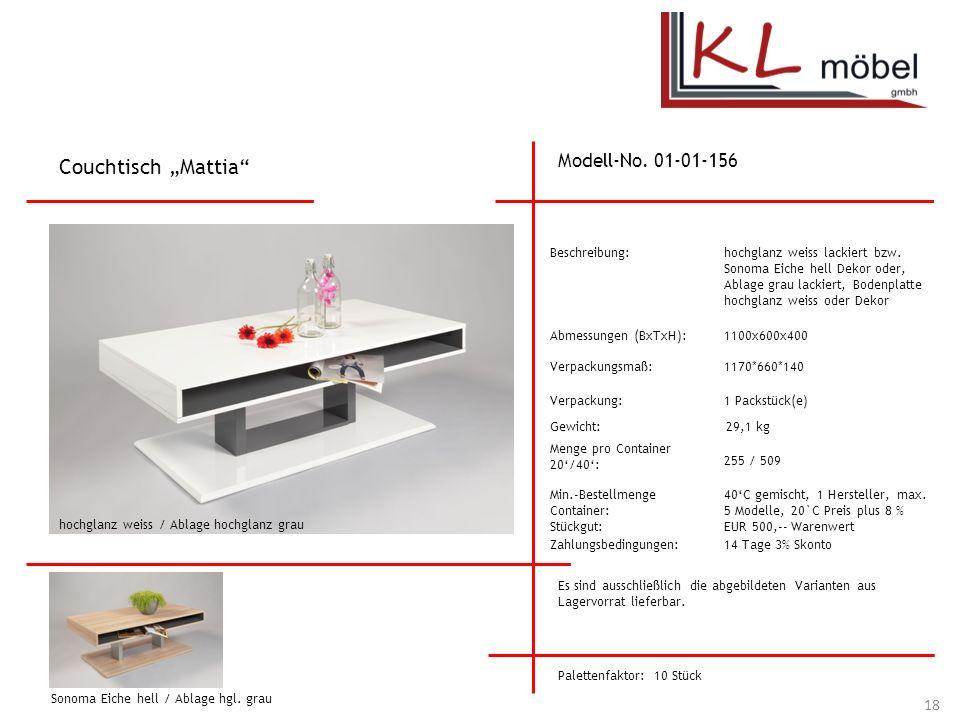 """Couchtisch """"Mattia Modell-No. 01-01-156 Beschreibung:"""