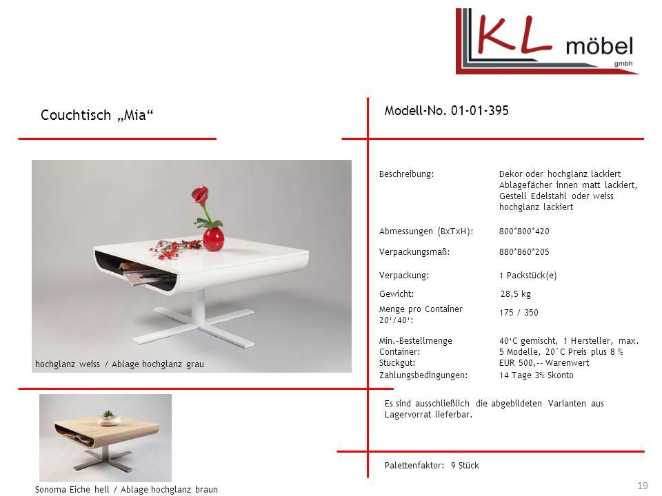 """Couchtisch """"Mia Modell-No. 01-01-395 Beschreibung:"""