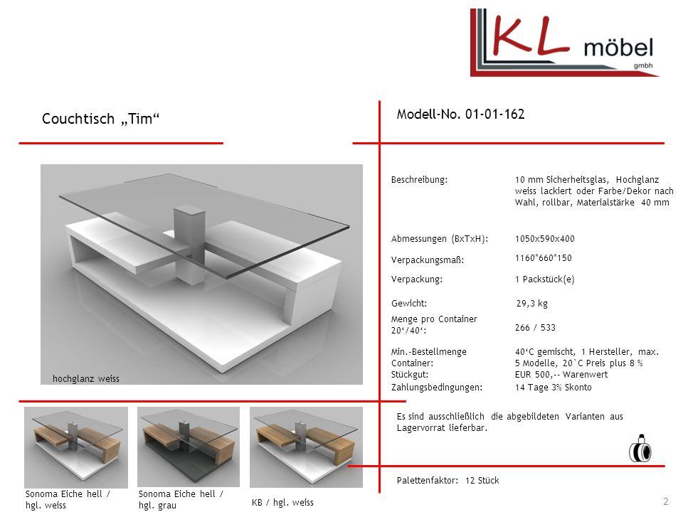 """Couchtisch """"Tim Modell-No. 01-01-162 Beschreibung:"""