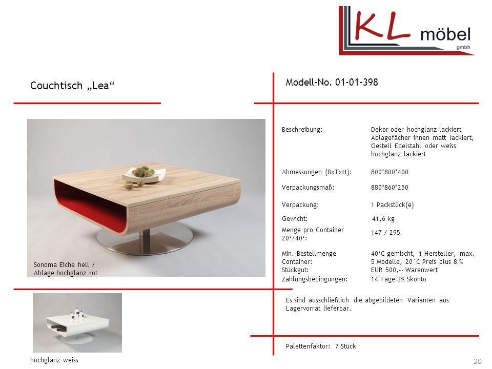 "Couchtisch ""Lea Modell-No. 01-01-398 Beschreibung:"
